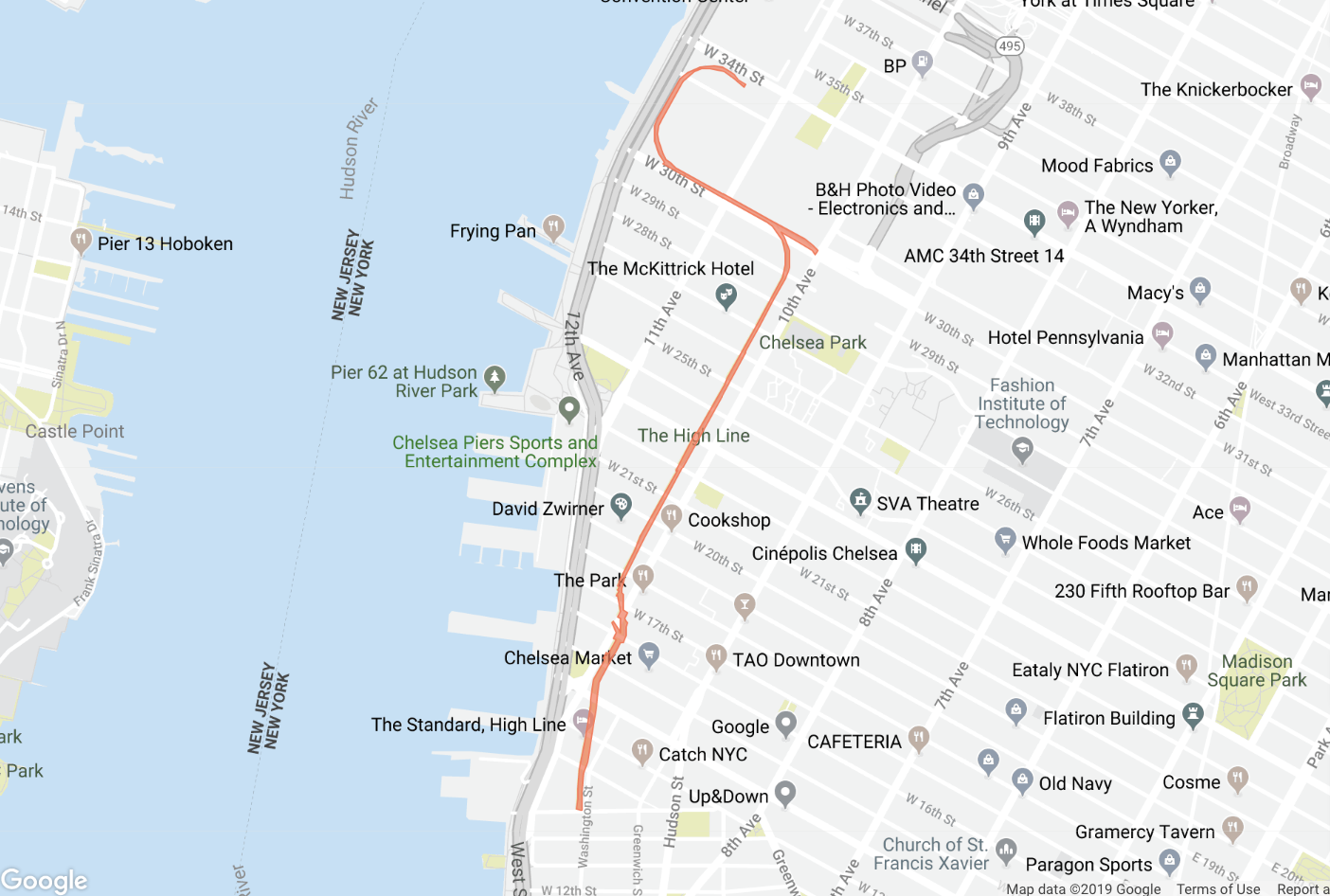 The High Line Map