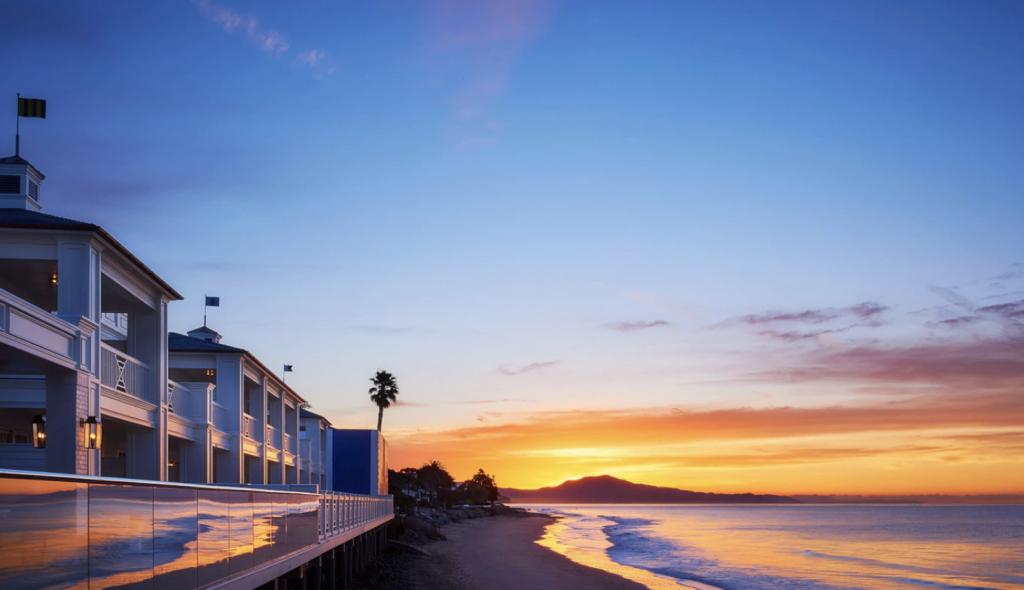 luxe beachfront hotels in California