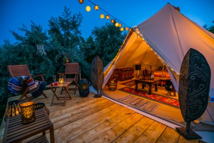 romantic glamping in california